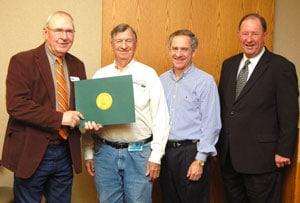 Gene Spurlock receiving Service Award
