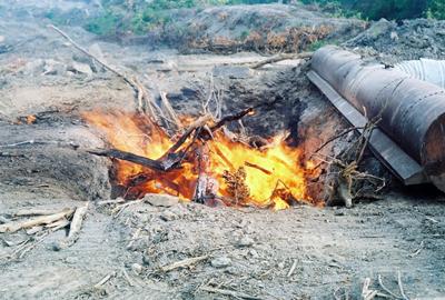 image of air curtain burner