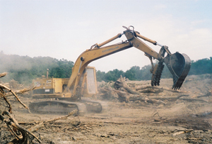 image of a track hoe