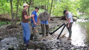 image of students and instructor on Bandy Creek