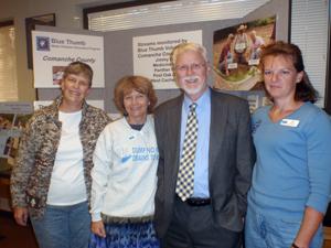 image of Jean Lemmon, Cheryl Cheadle, Dr. Robert Carlson, and Kim Shaw