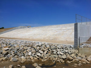 image of Caney Coon Creek Watershed Dam spillway.