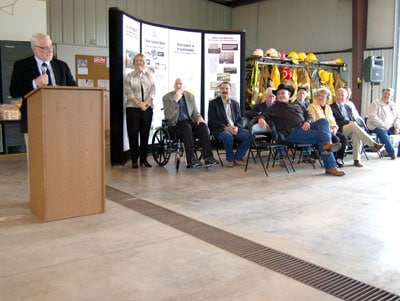 image of Dave White at Turkey Creek Dam dedication event