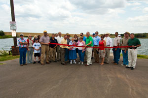 image of DCCD directors cutting the ribbon