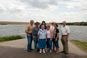 Members of the Deer Creek Conservation District (DCCD) board of directors