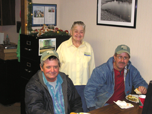 image of Deer Creek CD Director Bertha Miller with sons David and Perry