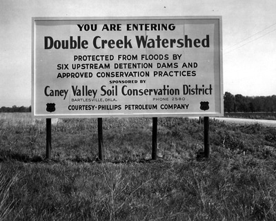 image of Double Creek Watershed sign