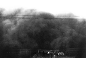 image of giant dust bowl storm cloud