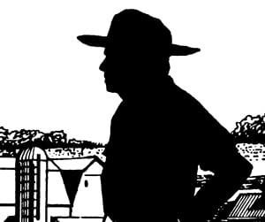 image of a farmer silhouette