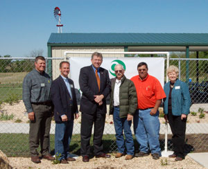 image of congressman Frank Lucas with the Kay County Conservation District board