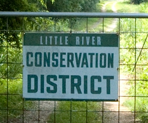 image of Little River Conservation District's demonstration farm sign