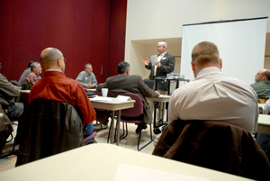 image of Ron Hilliard speaking to participants
