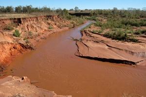 image of waterway areas in Sugar Creek Watershed