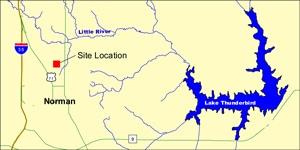 image of Lake Thunderbird map