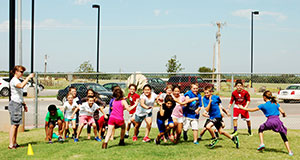 image of students playing